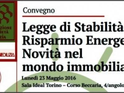Presentazione convegno 'Legge di Stabilità e Risparmio Energetico'